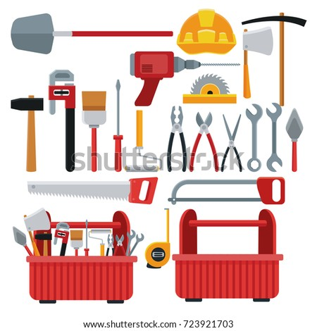 Construction toolbox service Vector Ilustration icon urban