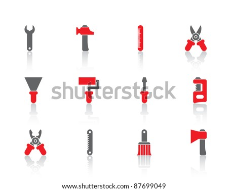 construction tools icons and logo