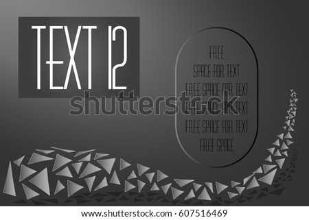 Construction traffic triangles background with space for text title and description. Vector illustration EPS 10