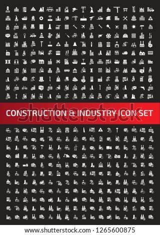 Construction vector icon set