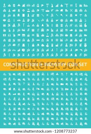 Construction vector icon set design