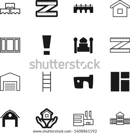construction vector icon set such as: wall, hazard, holding, inside, plan, exclamation, old, materials, material, plastic, faith, button, blocks, windows, caution, error, cube, decorative, library