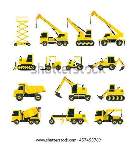 construction vehicles objects