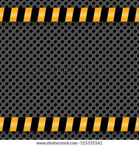 construction warning black and
