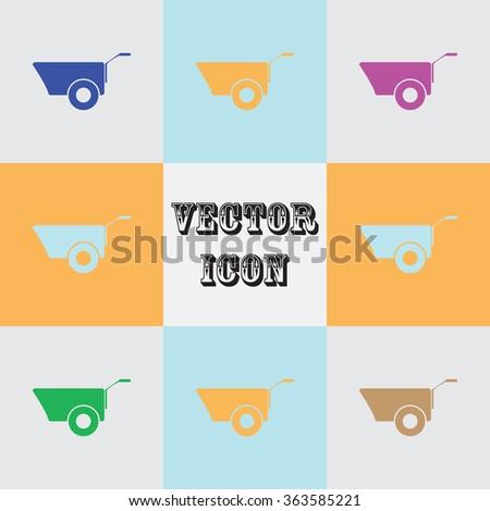 Construction wheelbarrow icon #363585221