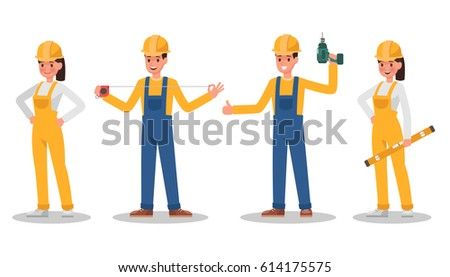 Construction Worker character vector design