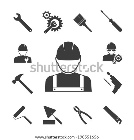 Construction Worker Icon Vector Construction Worker Icons
