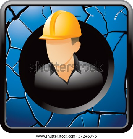construction worker on interesting web button