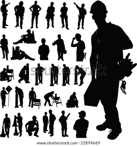 Vector Stock on One Vector Silhouettes Photo   Spiderpic Royalty Free Stock Photos