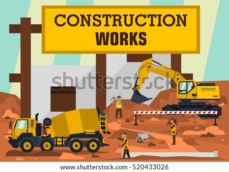construction works a group of