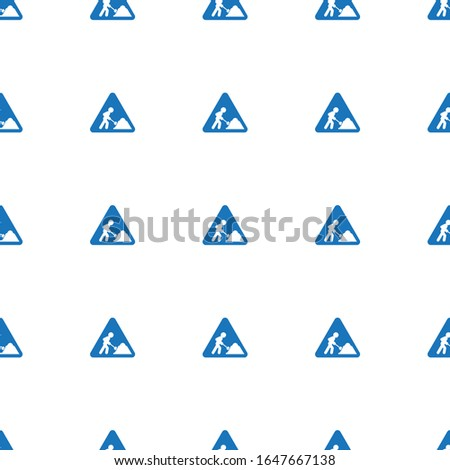 construction works icon pattern seamless isolated on white background. Editable filled construction works icon. construction works icon pattern for web and mobile.