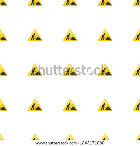 construction works icon pattern seamless isolated on white background. Editable flat construction works icon. construction works icon pattern for web and mobile.