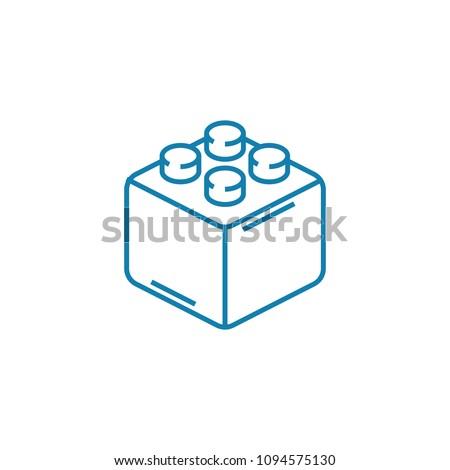 Constructor block linear icon concept. Constructor block line vector sign, symbol, illustration.