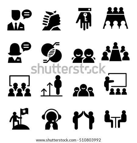consultant icon set