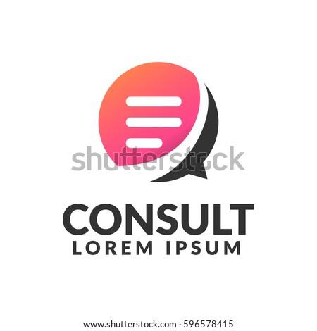 Consulting agency logo. Communication, Speak, Speech Bubble, Talk icon. Chat icon.  Chat bubble icon. Company, corporate, finance, union, corporate, business logo.