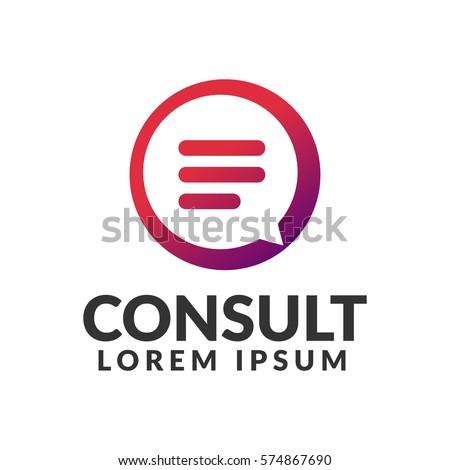 Consulting agency logo. Communication, Speak, Speech Bubble, Talk logo. Chat icon.  chat bubble icon. Company, corporate, finance, union, corporate, business logo.
