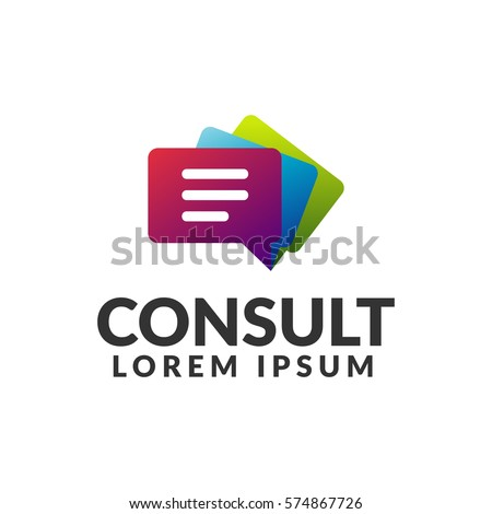 Consulting agency logo. Communication, Speak, Speech Bubble, Talk logo. Chat icon.  chat bubble icon. Company, corporate, finance, union, corporate, business logo.