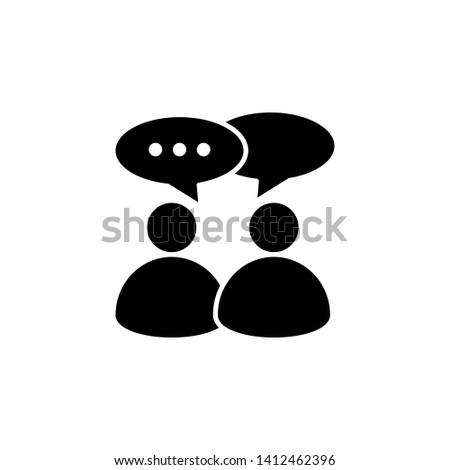 Consulting icon design or consultation activity illustration