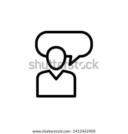 Consulting icon design or consultation activity illustration, editable stroke