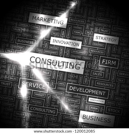 CONSULTING. vector pattern. Word collage. Vector illustration. - stock vector