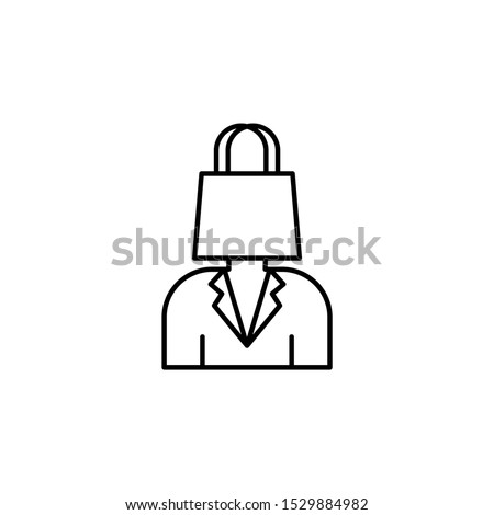 Consumer, shopping bag icon. Element of consumer behavior for mobile concept and web apps icon