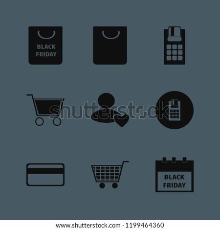 consumerism icon. consumerism vector icons set shopping bag, credit card, shopping cart and pos terminal