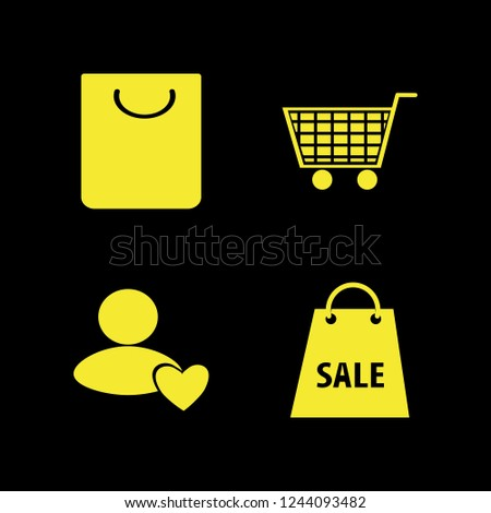 consumerism icon. consumerism vector icons set shopping bag, user favorite and shopping cart