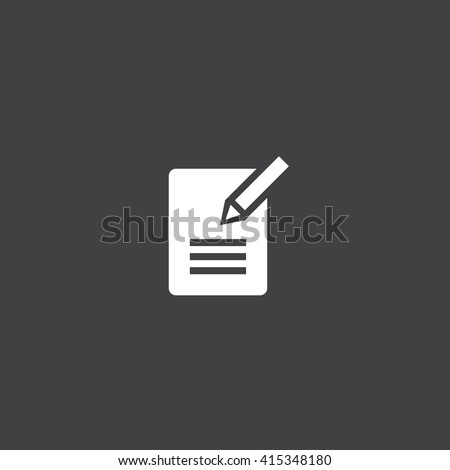 contact form icon vector, solid illustration, pictogram isolated on black