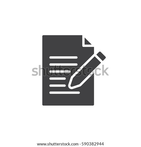 Contact form icon vector, Write, edit filled flat sign, solid pictogram isolated on white. Symbol, logo illustration. Pixel perfect