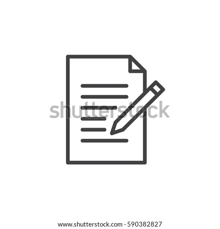 Contact form line icon. Write, edit outline vector sign, linear style pictogram isolated on white. Symbol, logo illustration. Editable stroke. Pixel perfect Stockfoto ©