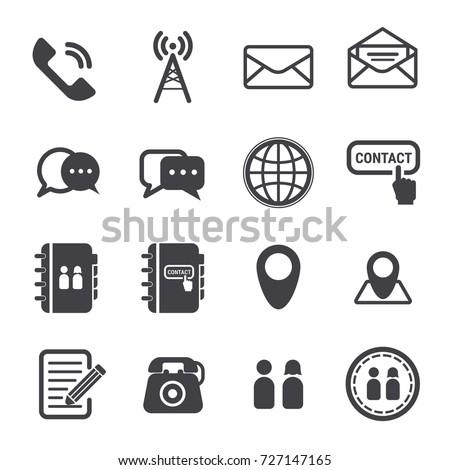 contact icon, contact vector set.
