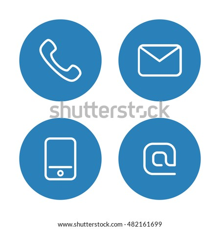 Contact icon set.