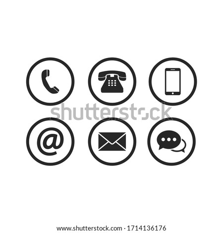Contact icon set vector illustration