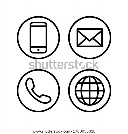 Contact icon set. Website icon vector illustration