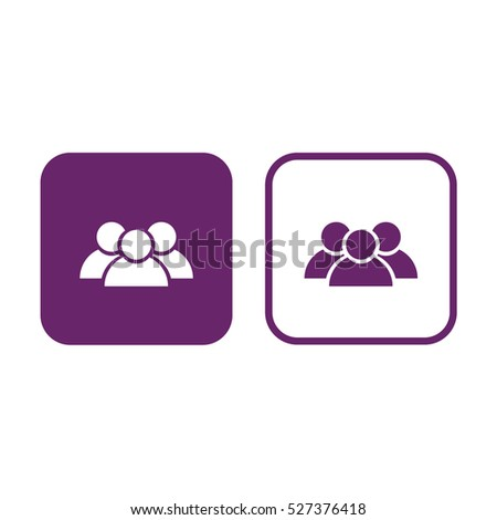 Contact icon vector. Purple and white