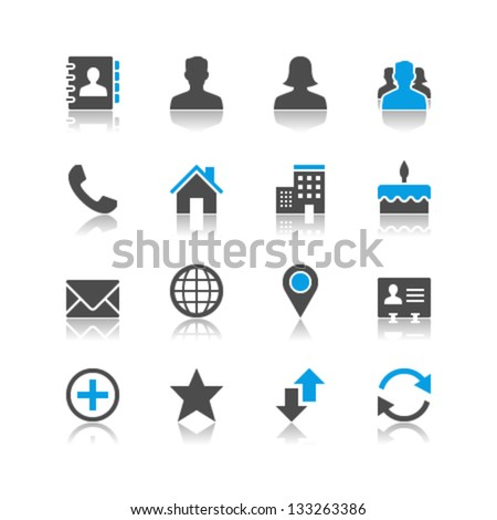 Contact icons reflection theme