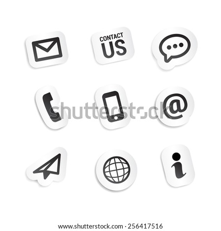 Contact Icons Stickers