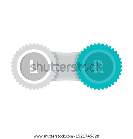 Contact lens case icon. Flat illustration of contact lens case vector icon for web design