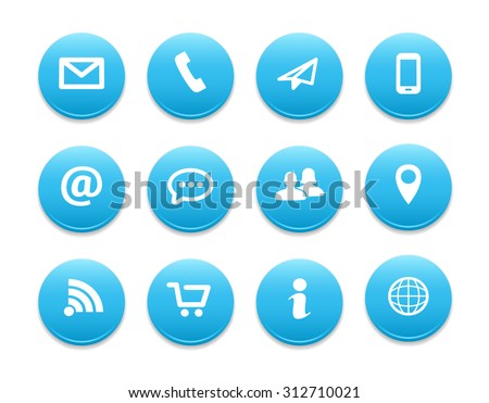 Contact Round Icons