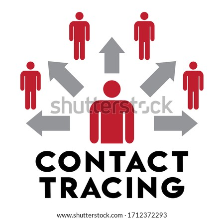 Contact Tracing Infographic | Image To Increase Awareness of Public Interactions | Health Education Graphic, Coronavirus Tracking