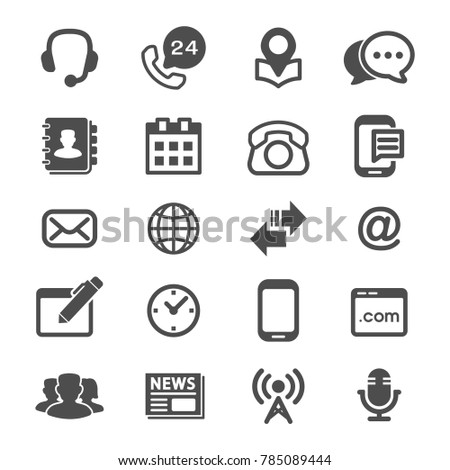 Contact us and Web Icons Vector.