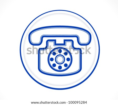 Contact us Call center icon blue