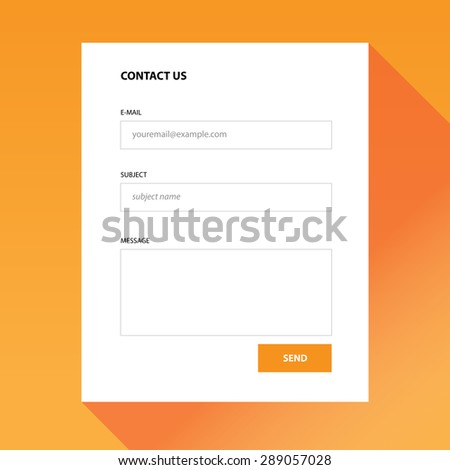 Contact us colorful modern form which you can use in your webdesign.