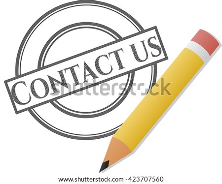 Contact us draw (pencil strokes)