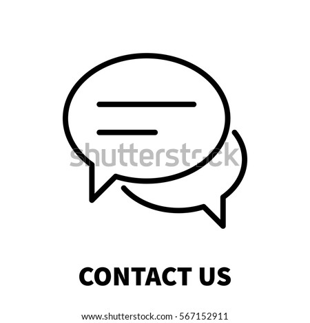Contact us icon or logo in modern line style. High quality black outline pictogram for web site design and mobile apps. Vector illustration on a white background.