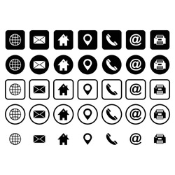 contact us icon vector symbol of website isolated illustration white background