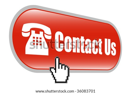 Contact Us Icon with Hand Mouse Cursor