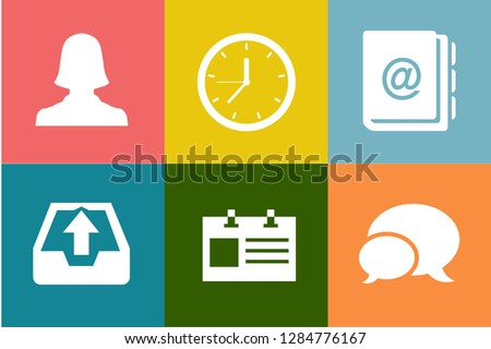 Contact Us Icons, customer service icons set - contact support sign and symbols