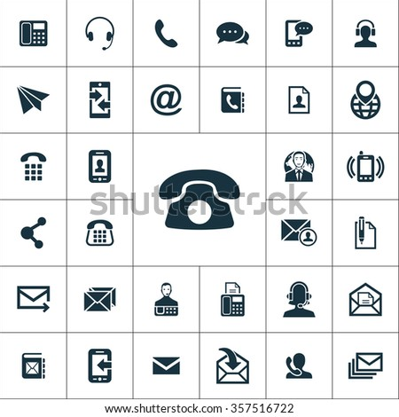 contact us Icons Vector set