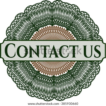 Contact us written inside abstract linear rosette